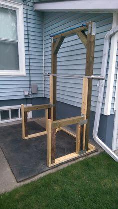 Post with 11499 views. Home Made Gym, Diy Home Gym, Gym Room At Home, Diy Gym Equipment, No Equipment Workout, Squat Rack Diy, Home Gym Garage, Basement Gym, Outdoor Gym