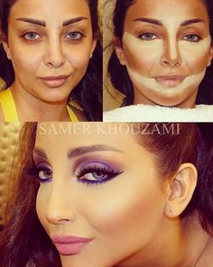 Contouring and highlighting #makeup #transformations