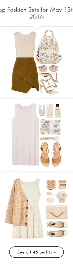 """Top Fashion Sets for May 13th, 2016"" by polyvore ❤ liked on Polyvore featuring Alice + Olivia, Kalmanovich, RED Valentino, Valentino, Westward Leaning, Monki, Warehouse, Paul & Joe, Nails Inc. and Kate Spade"