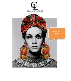 CL STYLING HOUSE #TWIGGY #CL #TURBAN #TURBANTIME Turbans, Twiggy, Cl, Headbands, Stylish, Unique, Summer, Movie Posters, House