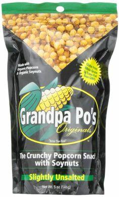 Grandpa Po's Originals, Slightly Unsalted Crunchy Organic Popcorn Snack with Soybeans, 5 Ounce  Bags (Pack of 12) - http://goodvibeorganics.com/grandpa-pos-originals-slightly-unsalted-crunchy-organic-popcorn-snack-with-soybeans-5-ounce-bags-pack-of-12/