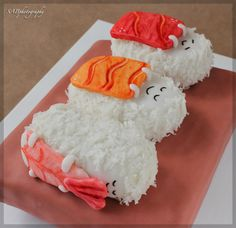 Sleeping Sushi Cake... too stinkin' cute for words!