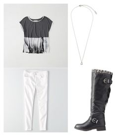 """""""Untitled #402"""" by eliz171 on Polyvore featuring Abercrombie & Fitch, American Eagle Outfitters, Charlotte Russe and Orelia"""