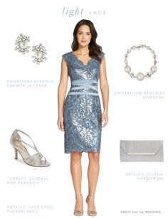Short Blue Lace Dress. Short blue lace cocktail dress for a wedding guest, mother of the bride, or bridesmaid.