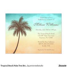 Tropical Beach Palm Tree Bridal Shower