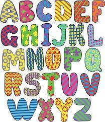 Resultado de imagen para tipos de letras bonitas para tarjetas abecedario