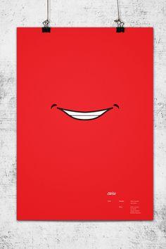 Minimal poster for Cars (Pixar). Designed by Wonchan Lee