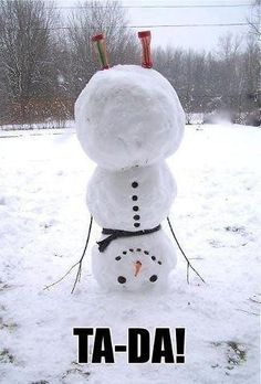This is what happened to me when I walked out the front door this morning! I have officially turned into a snowman