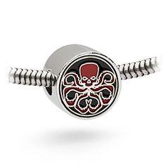 Silver-tone Avengers Assemble HYDRA charm bead.