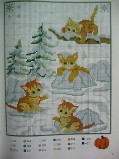 Ponto Cruz Animais -  /  Cross Stitch Animals -