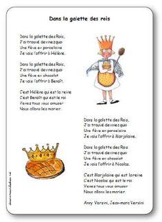 Dans la galette des rois de Versini Grand Prince, Cycle 3, Teaching French, Epiphany, Preschool Crafts, Diy And Crafts, Education, Chant, Images
