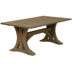 """Fireside Lodge Frontier Cathedral Dining Table Color: Driftwood, Size: 30"""" H x 72"""" W x 42"""" D"""