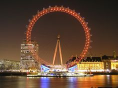 get on the London Eye at night