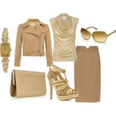Gold, created by hollie29 different jacket
