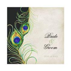 peacock wedding invitation idea