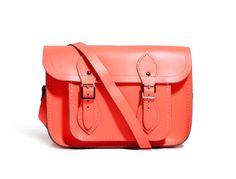 fluorescent coral Cambridge Satchel bag {love this color}