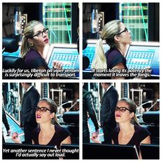 Arrow -  season 2 -- Felicity is learning a lot of new things about herself since meeting Oliver Queen.