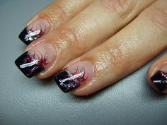 Nageldesign french rot
