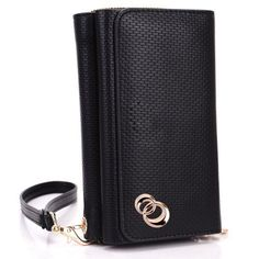 """Samsung Galaxy S3 i9300 Black Woven Fashion Wallet Clutch Carrying Cover Case Uptown Series + EnvyDeal Velcro Cable Tie by Kroo. $29.99. Carry All You Need with Your Phone. The Best Selling Smartphone Wallet Clutch. Approximate Phone Compartment Dimensions: 5.3"""" x 3.3"""" x 0.3"""". Form fit feature protects back and sides from scratches, dirt and bumps. Removable wrist strap. What better way to protect your brand new device than this stylish but practical wallet. This wal..."""