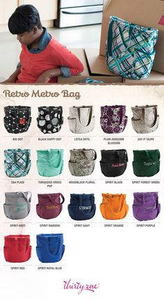 Retro Metro Bag pattern offerings for Fall'13