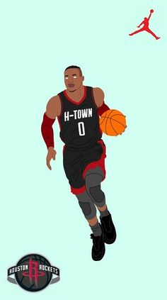 Westbrook Nba, Russell Westbrook, Houston Rockets Basketball, Nba Basketball, Nba Rockets, Westbrook Wallpapers, Nba Quotes, Nba Lebron James, Curry Nba
