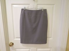 ON SALE NOW!!!  GREAT CLOTHES,GREAT PRICES!!  Ellen Tracy Gray Pencil Skirt Size 8 #EllenTracy #StraightPencil
