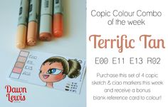 Copic Colour Combo of the week Terrific Tan