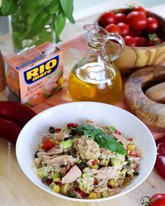 Pasta Salad, Cobb Salad, Cooking Recipes, Healthy Recipes, Avocado, Paella, Salads, Healthy Living, Food And Drink
