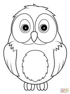 Cute Owl Coloring Page From Owls Category Select 20946 Printable Crafts Of Cartoons Nature Animals Bible And Many More