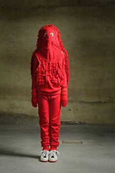 Body parts garments for kids by Caroline Bosmans, photos by Kurt Van De Velde