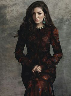 Lorde in Givenchy photographed by Robbie Fimmano for Vogue Australia, July 2015.