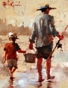 Andre Kohn Fishing with Dad
