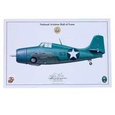 Limited Edition Signed Aircraft Print - Joe Foss F4F Wildcat Signed Print
