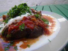 Kaboul veggie : aubergines compotées au yaourt