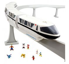 The Disney Store is now offering theme park toy sets. I never realized I wanted to own a replica of Disney's monorail until today.