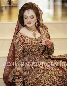 Pakistani Bridal Makeup, Bridal Mehndi Dresses, Pakistani Wedding Outfits, Indian Bridal Fashion, Bridal Dress Design, Bridal Outfits, Bridal Style, Pakistani Dresses, Shadi Dresses