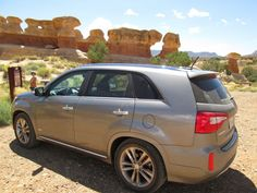 2015 Kia Sorento SXL and hoodoos at Grand Staircase-Escalante National Monument