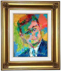 Jack Kennedy, by LeRoy Neiman...  http://www.ldcfitzgerald.com/celebrating-leroy-neimans-work-on-jfk/