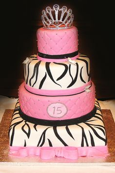 So I'm thinking just two tiers and pink and black for the zebra stripes instead of the white and black.