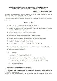 SOMOS sindicalistas Madrid: Acta de segunda reunión de la Comisión Ejecutiva S...