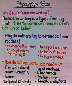 Persuasive Writing Chart!