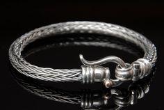 Unisex Sterling Silver Bracelet Braided Chain 9k by cremerdani, $850.00