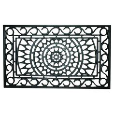 Extend a warm welcome to family and friends with this eco-friendly rubber doormat, showcasing an openwork medallion-inspired design for a touch of elegant ap...