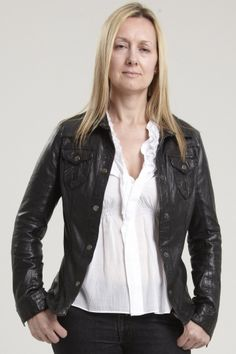 Women&39s Black Leather Biker Jacket. . Sizes 8 to 22 and also