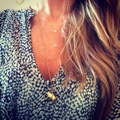 Blogger Piece of Toast wearing Dana Rebecca Lauren Joy and Slyvie Rose necklaces