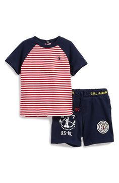 Ralph+Lauren+T-Shirt+&+Shorts+(Baby+Boys)+available+at+#Nordstrom