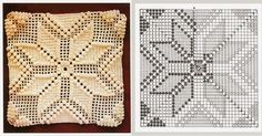 square-0055 Crochet Bedspread Pattern, Crochet Table Runner Pattern, Crochet Motifs, Crochet Pillow, Crochet Blanket Patterns, Baby Blanket Crochet, Crochet Doilies, Granny Square Häkelanleitung, Granny Square Crochet Pattern