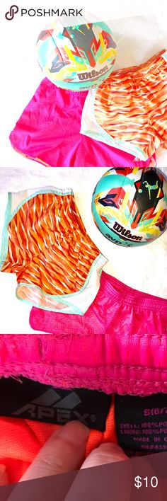 Athletic Short Bundle Perfect shorts for your active little lady (volleyball not included)! Brightly colored and both full of life. Very gently used. Bottoms Shorts