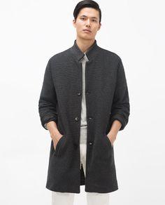 Bild 2 von STRICKMANTEL von Zara Zara, Knitted Coat, Men's Collection, Ss16, Outerwear Jackets, Winter Fashion, Men Casual, Knitting, My Style