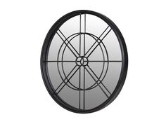 Round iron frame mirror- great for creating an industrial living feel Window Pane Mirror, Mirror Wall Clock, Barker And Stonehouse, Mirror Shapes, Round Mirrors, Glass Pendants, Discount Designer, Luxury Furniture, Downstairs Toilet